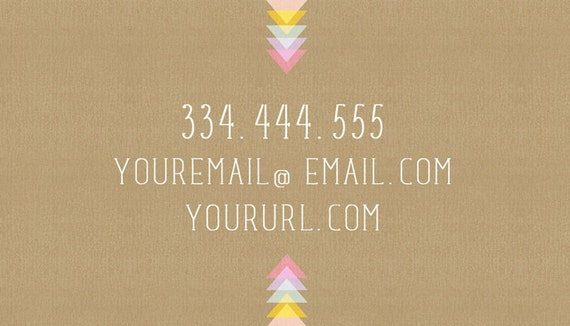 Amanda PreMade Printable Calling Card l Double Sided