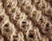 Lacy Baby Alpaca Cowl - Natural Brown - Undyed - Super Baby Soft - New Jersey-raised
