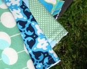 Burp Cloth/Burpie Set (4) - Premium Terry/Designer Fabrics - ONE DOLLAR Shipping -