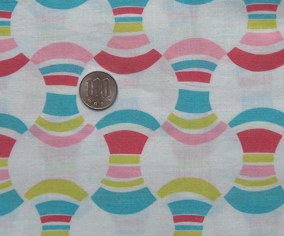 vintage feedsack fabric - rainbow spools