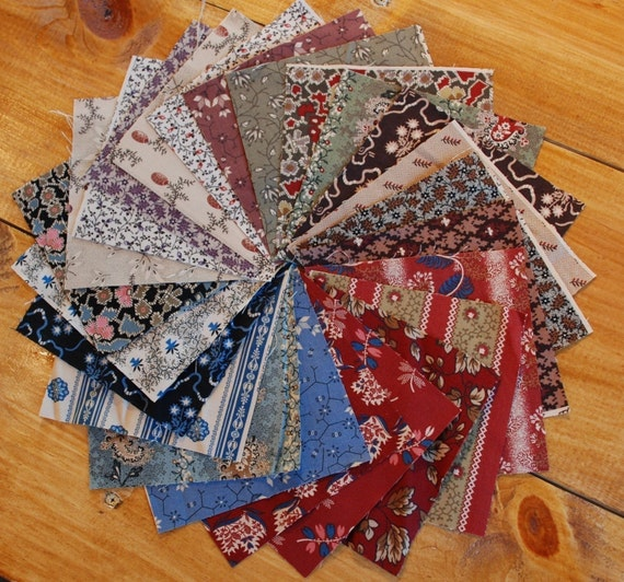 1800s Repro 5 inch Charm Pack Regency III Fabric Set