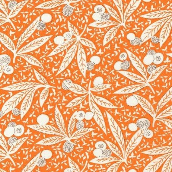SALE - Orange Tropical Floral, Betty Dear by Darlene Zimmerman, 1940s