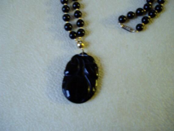 Vintage Hobe Black and Gold Necklace SALE