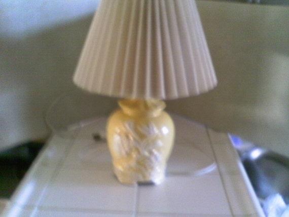 1950 Small Pale Yellow Lamp