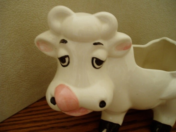 VOTE FOR ME California Cow Planter Vintage