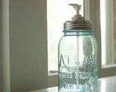 Quart Atlas Strong Shoulder Mason Jar Soap Dispenser