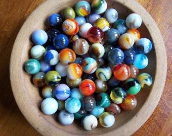 25 random marbles