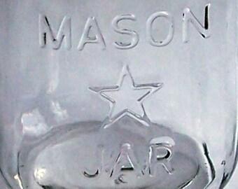 Mason Star Jar Soap Dispenser with rustproof pump lid