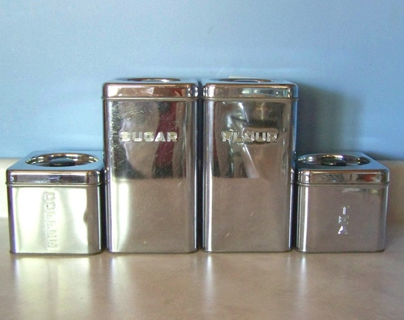 Stainless Steel Canister Set Beautyware By Lincoln