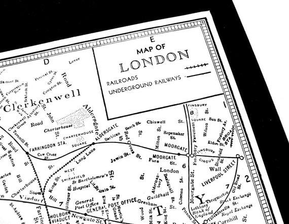 1940s London Street Map