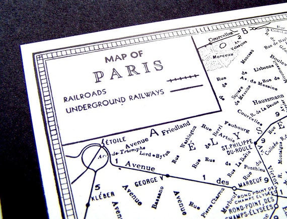 1940s Paris Street Map