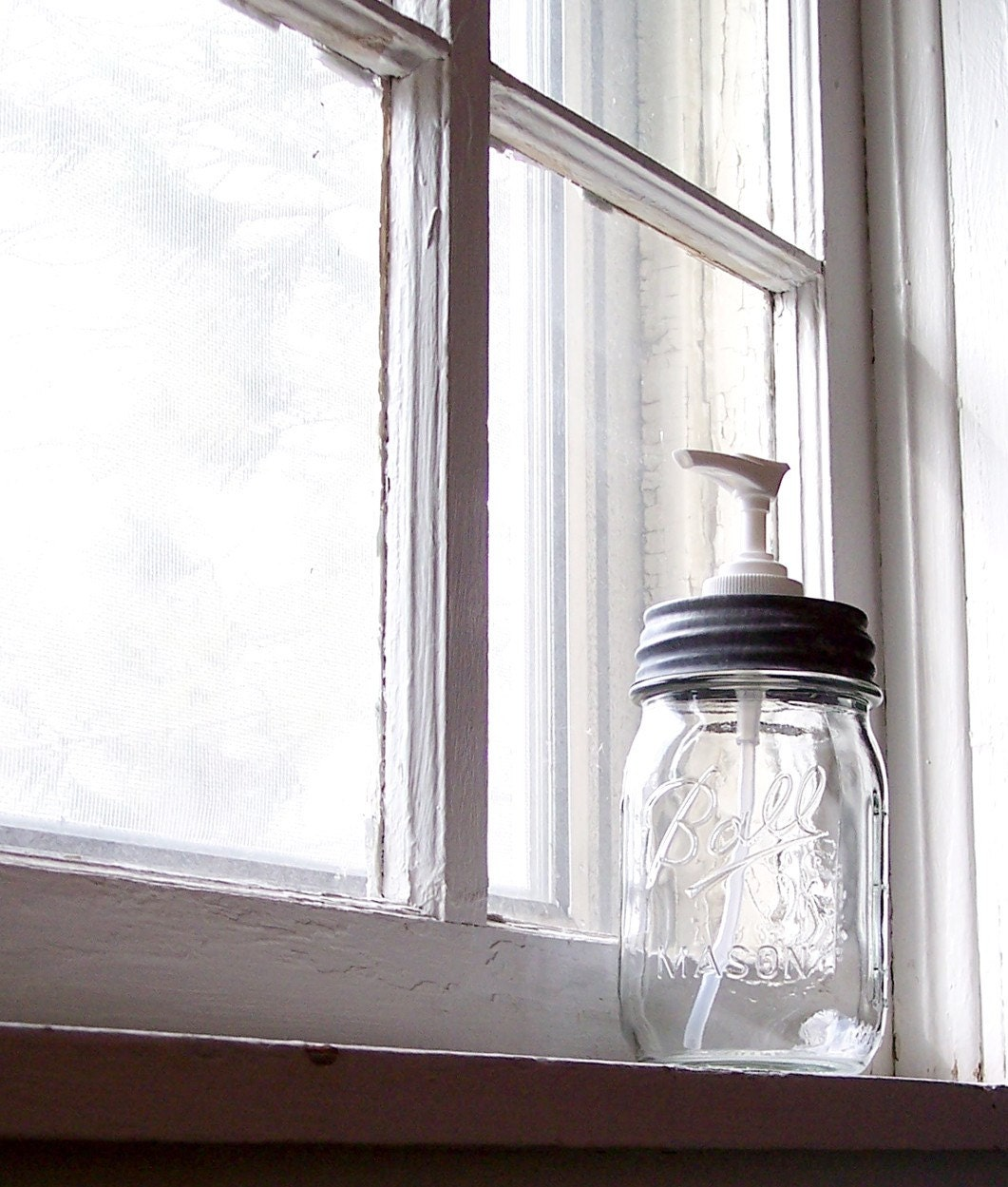 Mason Jar Soap Dispenser By Midwestfinds On Etsy