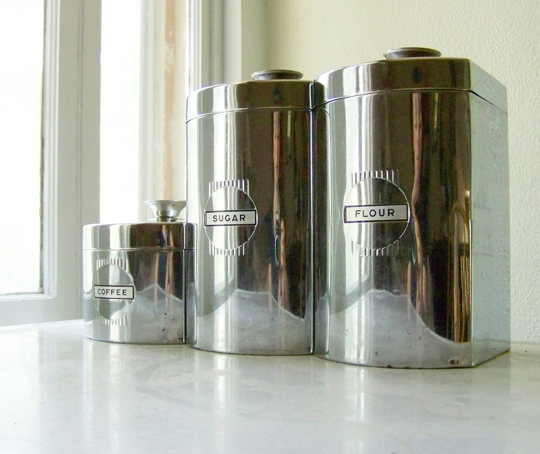 Stainless Steel Canister Set By Kromex
