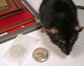 Fancy Rat Pin or Magnet, Set of 2