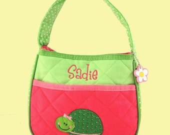 Child's Stephen Joseph Quilted TURTLE Purse Monogramming Included