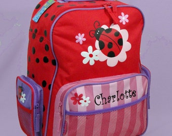 Personalized Child's Stephen Joseph Rolling Luggage LADYBUG In Red Themed for Children
