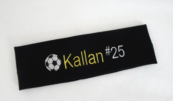 Personalized Stretch Headband SOCCER Themed
