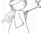 Pure Innocence 037 - Digi stamp, for card making, girl characters, Digi stamps