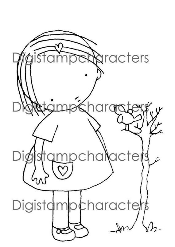 Pure Innocence - Digital Stamp 012