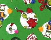 How the Grinch Stole Christmas by Dr Seuss for Robert Kaufman - Grinch Scenes- 1/2 yard