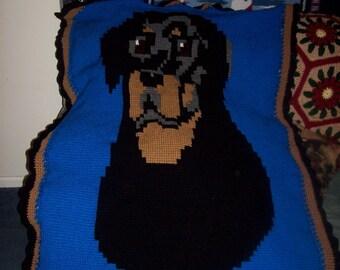 Crochet Rottweiler Afghan