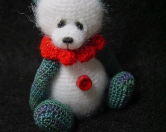 Miniature THREAD Crochet Artist PANDA Teddy Bear Pattern PDF