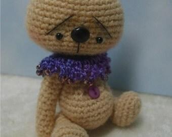 Miniature Crochet THREAD ARTist Japanese Style Anime Bear Pattern PDF by Stefanie Devlin