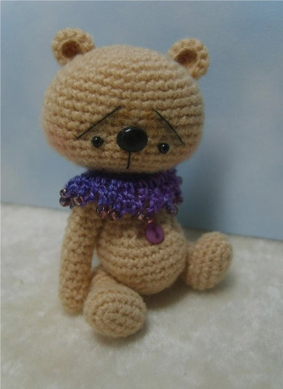 Miniature Crochet THREAD ARTist Japanese Style Anime Bear Pattern PDF ...