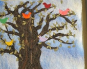 Coexist Wool Felt Tree Framed Wall Art by Georgianne Holland