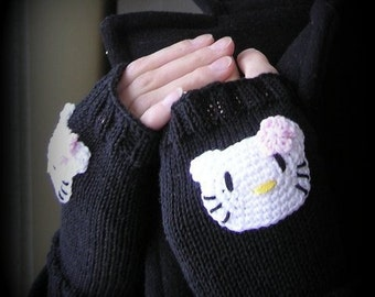 Womens fingerless gloves. Handknit and soft. Cute and cozy.