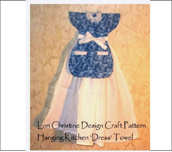 Craft Pattern Two Hanging Dress Kitchen Towels Sewing