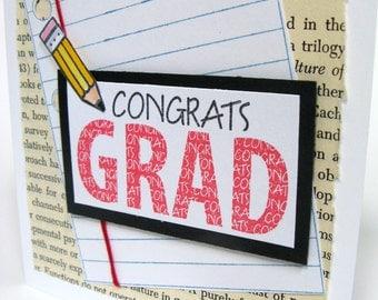 Graduation Card, Congratulations, Graduate, Class of 2017, Happy Graduation, High School Graduation, College Graduation, School  Colors