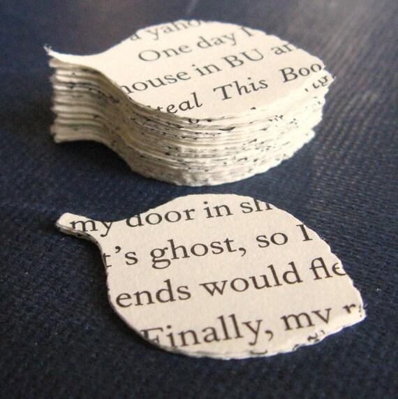 Text Leaves, Upcycled Book text, Ephemera, Mixed Media