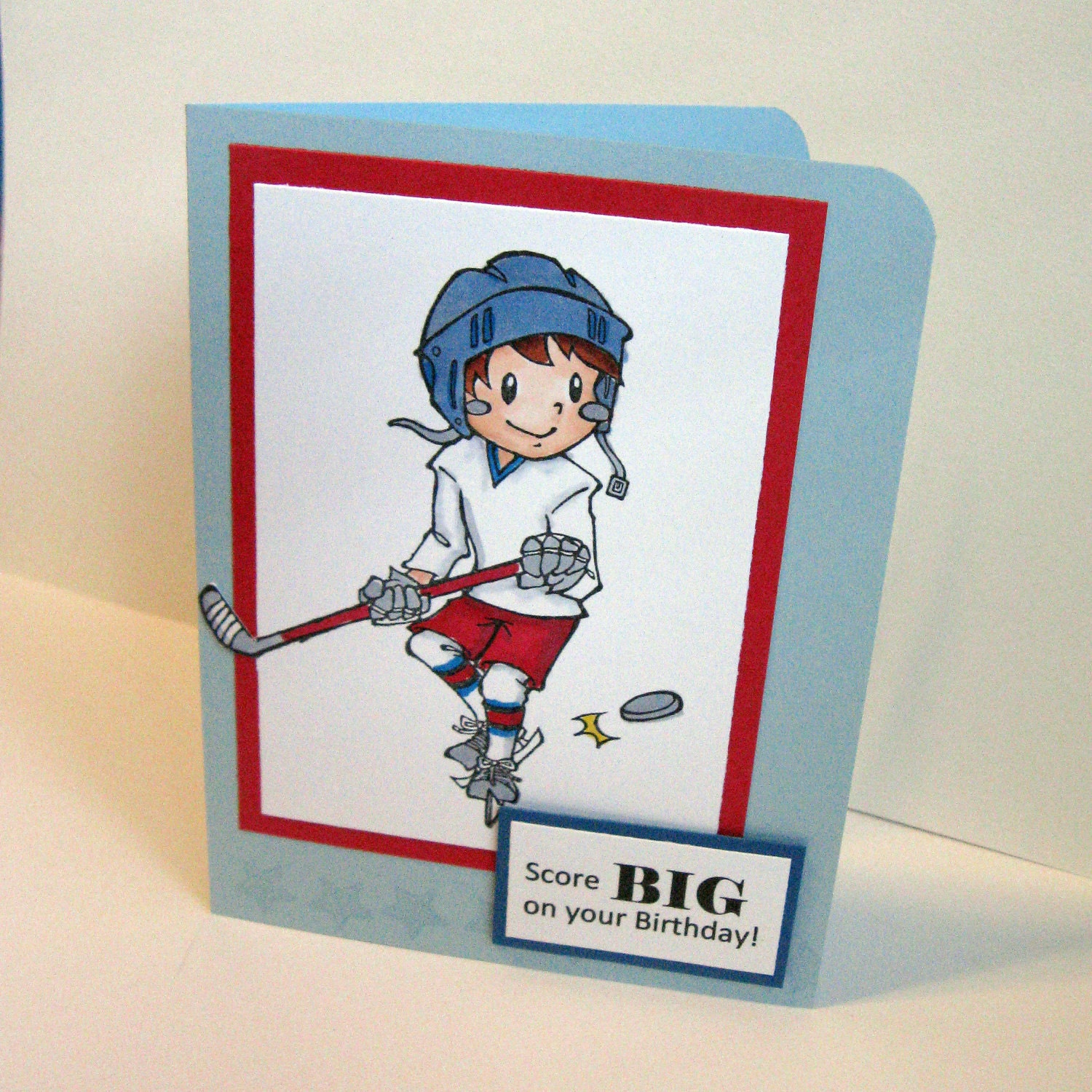 Hockey Happy Birthday Card Hockey Hockey Player Hockey