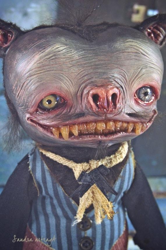 Murphyelago  - Art doll ooak monster halloween bat fantasy creature