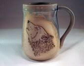 Howling Wolf Head Beer Mug