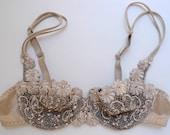 Sparkly Burlesque Set Bra Panties Swarovski Crystals Knickers