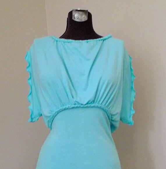 Custom Jersey Dress Empire Draped Choose a Color