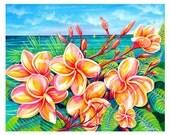 Maui Flowers print