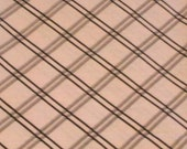 """1 Yard  and  20"""" Geometric Lattice in Pink and Brown Cotton Fabric"""