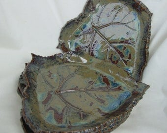 Two Leaf Plates left, Individual Plates
