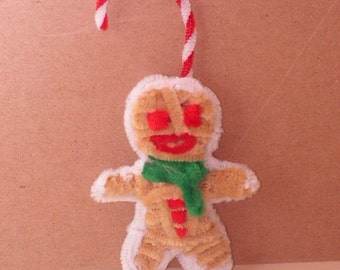 Fuzzy Figures - Frosted Gingerbread Man