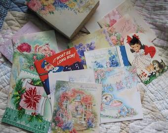 Vintage Antique Greeting Cards,  Blosson Greeting Cards,  Unused, Antique and Vintage Cards, Scrapbooking, Repurposing, Doehla Fine Arts