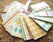 20 -  PreStrung Paper Tags - DCWV  Flower Collection  - Free Secondary Shipping