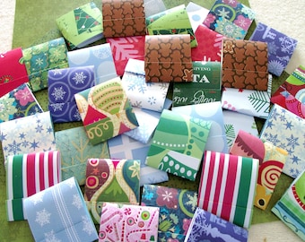 75 Matchbook Note Pads- Assorted Christmas and Holiday Patterns  - 12 Extra Large Sheets