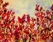 SALE  Cherry Blossom- Happiness in Pink II- Original Watercolor Painting