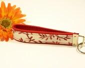 Red Floral - Key FOB\/Keychain\/Wristlet