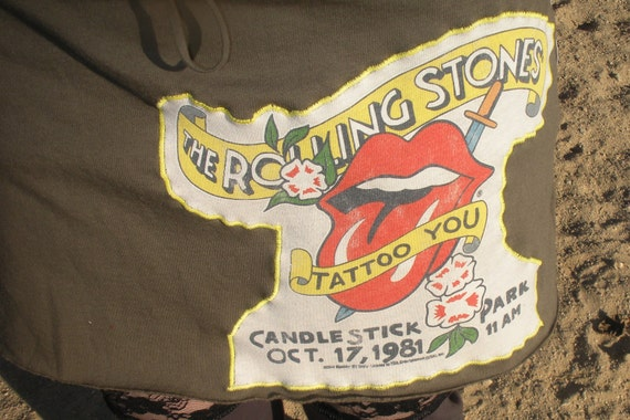 SALE Rolling Stones Tour Mini Skirt Layering  NWT Tattoo You 1981