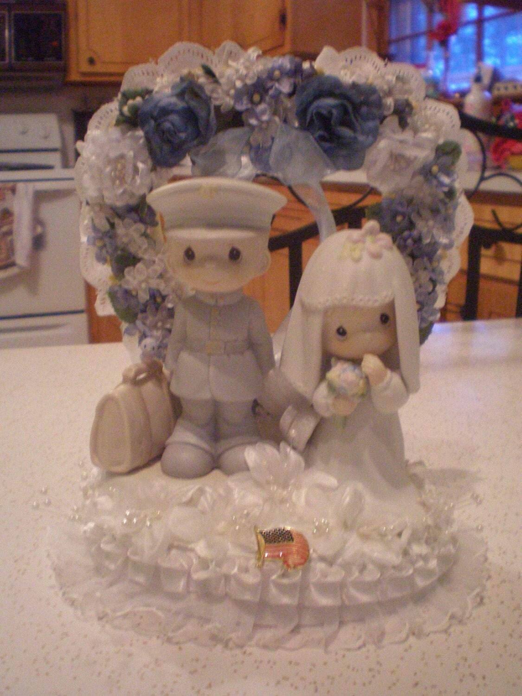 Precious Moments Usmc Marine Corp Wedding Cake Topper Price