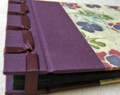 Japanese Style Ribbon-Bound Photo Album (small / grape, purple and green). Free shipping to Canada and US.